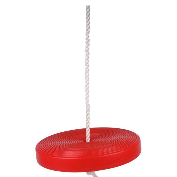 Rød gynge - tallerken gynge - til sjov leg i haven! Se gynger her ...