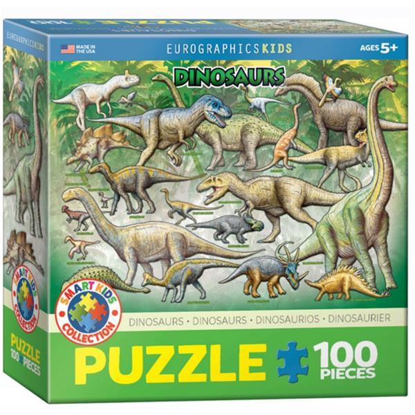 Puslespil Med Dinosaur 100 Brikker Tralalegdk